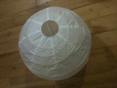 Buyingclicklight lampshade makinggood gift choice orange for Make paper mache lamp shade